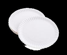 Одноразовые бумажные тарелки